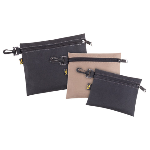 CLC 1100, 3-MULTI-PURPOSE, CLIP-ON, ZIPPERED BAGS