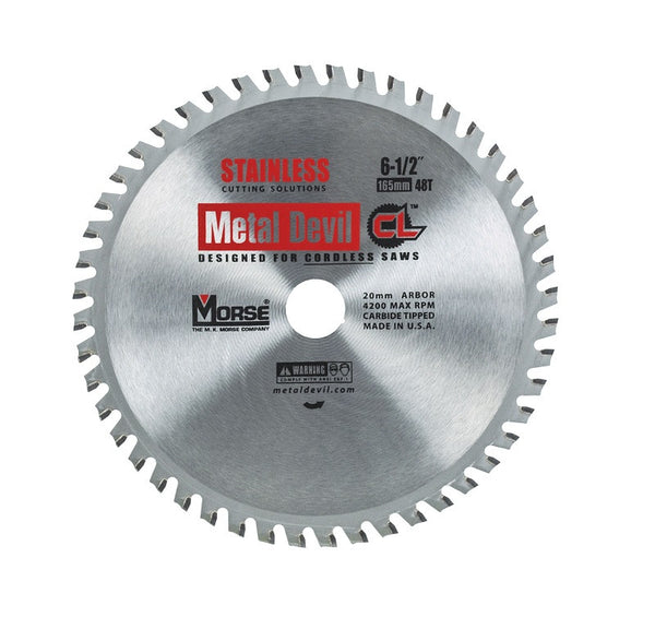 MK Morse CSM6504820CLSSC CL 6-1/2 inch Stainless Steel Circular Blade w/ 48 Teeth