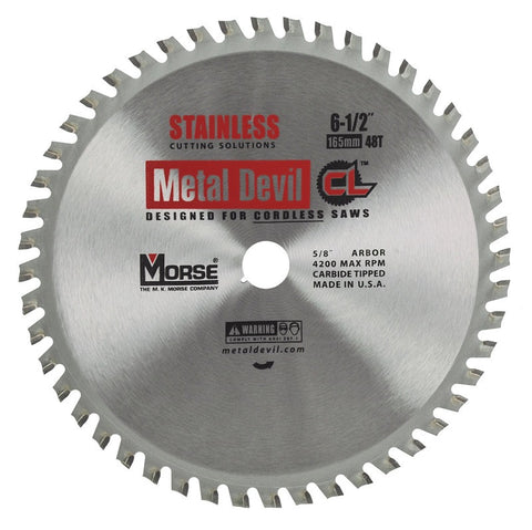MK Morse CSM6504858CLSSC CL 6-1/2 inch Stainless Steel Circular Blade w/ 48 Teeth