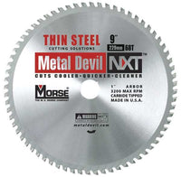 MK Morse CSM968NTSC NXT 9 inch Thin Steel Cutting Circular Blade w/ 68 Teeth