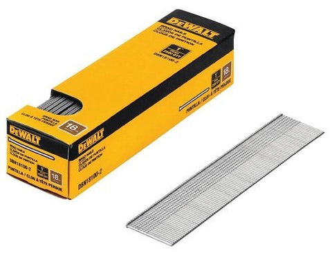 DeWalt DBN18100-2, 18 GAUGE BRAD NAILS- 2500 pack