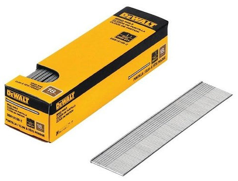 DeWalt DBN18125-2, 18 GAUGE BRAD NAILS- 2500 pack