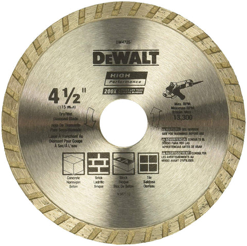 DeWalt DW4725, HP™ TURBO BLADE