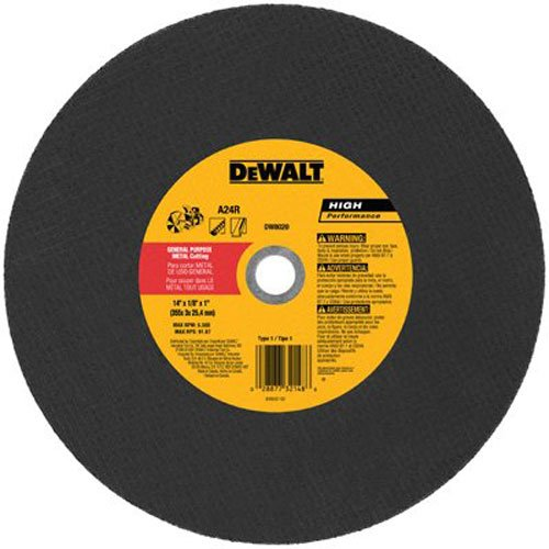 DeWalt DW8020, Metal Port Saw Cut-Off Wheel, 14-Inch X 1/8-Inch X 1-Inch
