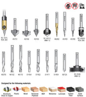 Amana AMS-132 18-Pc Signmaking Advanced CNC Router Bit Collection, 1/4 Inch Shank