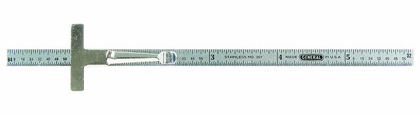 General Tools 301/1 6-Inch x 1/4-Inch Flex Precision Stainless Steel Rule