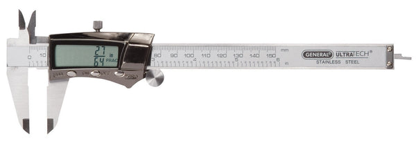 General Tools 147 Digital Fractional Caliper with Extra-Large LCD Screen, 3 Mode Display, 6-Inches