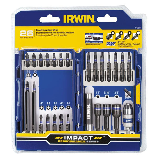 Irwin 1988892 26PC IMPACT FASTENER DRIVE SET NO DISPLAY TRAY