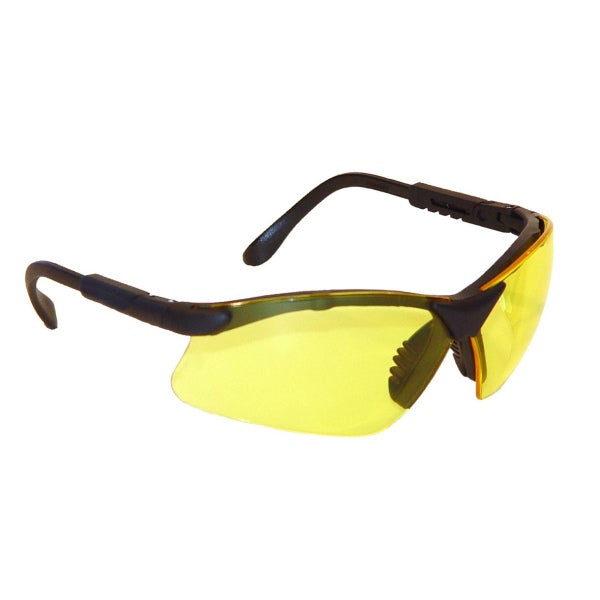 Radians RV0140ID Revelation Black Amber Safety Eyewear