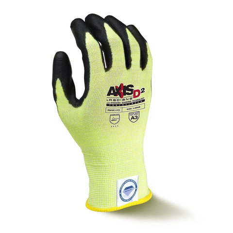 Radians RWGD100 Axis D2 Cut Protection Level A3 Touchscreen Glove With Dyneema Diamond Technology (Each)
