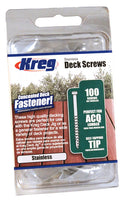 KREG SDK-C2SS-100 2-Inch, #8 Coarse, Stainless Steel Deck Screw, 100 Ct