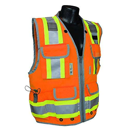 Radians SV55-2ZOD SV55 Class 2 Heavy Woven Two Tone Engineer Hi Viz Orange
