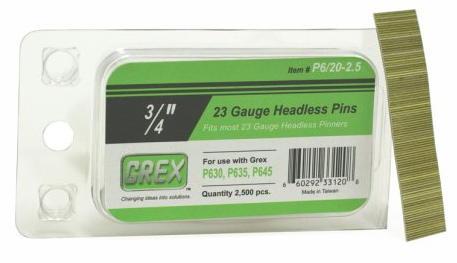 GREX P6/20-2.5 3/4-Inch Length 23 Gauge Headless Pins