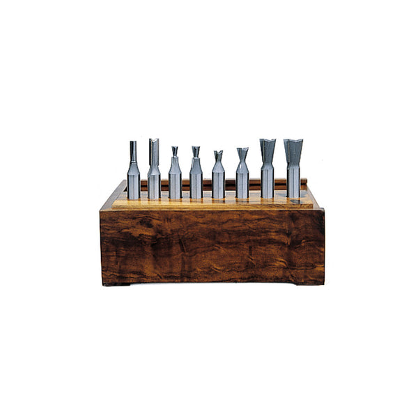Amana AMS-408 8-Piece Carbide Tipped Dovetail for Incra Jig & Jointech 1/2 Inch Shank Set