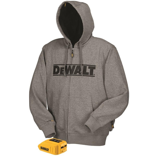 Dewalt dchj068b-L, 20V/12V MAX Heated Hoodie - Gray (Hoodie & Adapter Only) in Large
