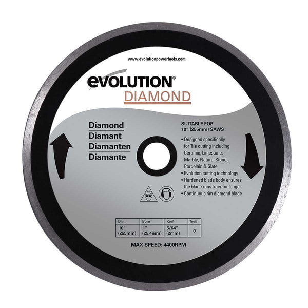 "Evolution 10"" Diamond Tile Blade 10BLADEDM"