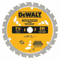 "DEWALT DW3178 7-1/4"" x 24 Tooth Carbide-Tipped Framing Saw Blade"