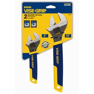 Irwin 2078700, 2-pc Adjustable Wrench Set
