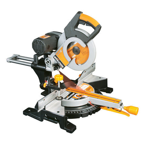 "Evolution Power Tools RAGE3-DB: 10"" TCT Multipurpose Double Bevel Sliding Miter Saw"