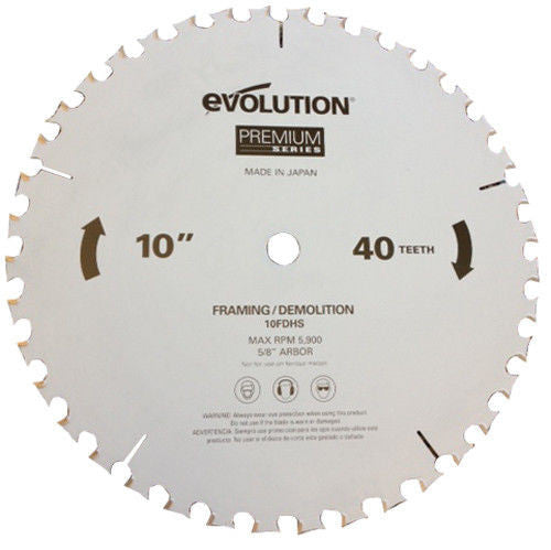 "Evolution 10"" Framing and Demolition Blade 10FDHS"