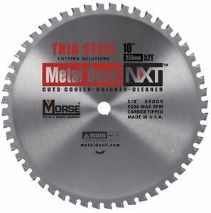 MK Morse CSM1052NTSC NXT 10 inch Thin Steel Cutting Circular Blade w/ 52 Teeth