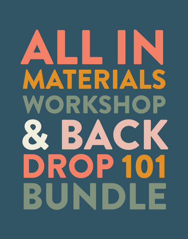 Materials Workshop & Backdrop 101 Bundle