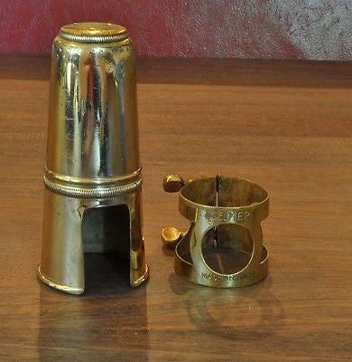 Vintage Selmer Tenor Saxophone Ligature and Cap from Mark VI Sax Oval Screws