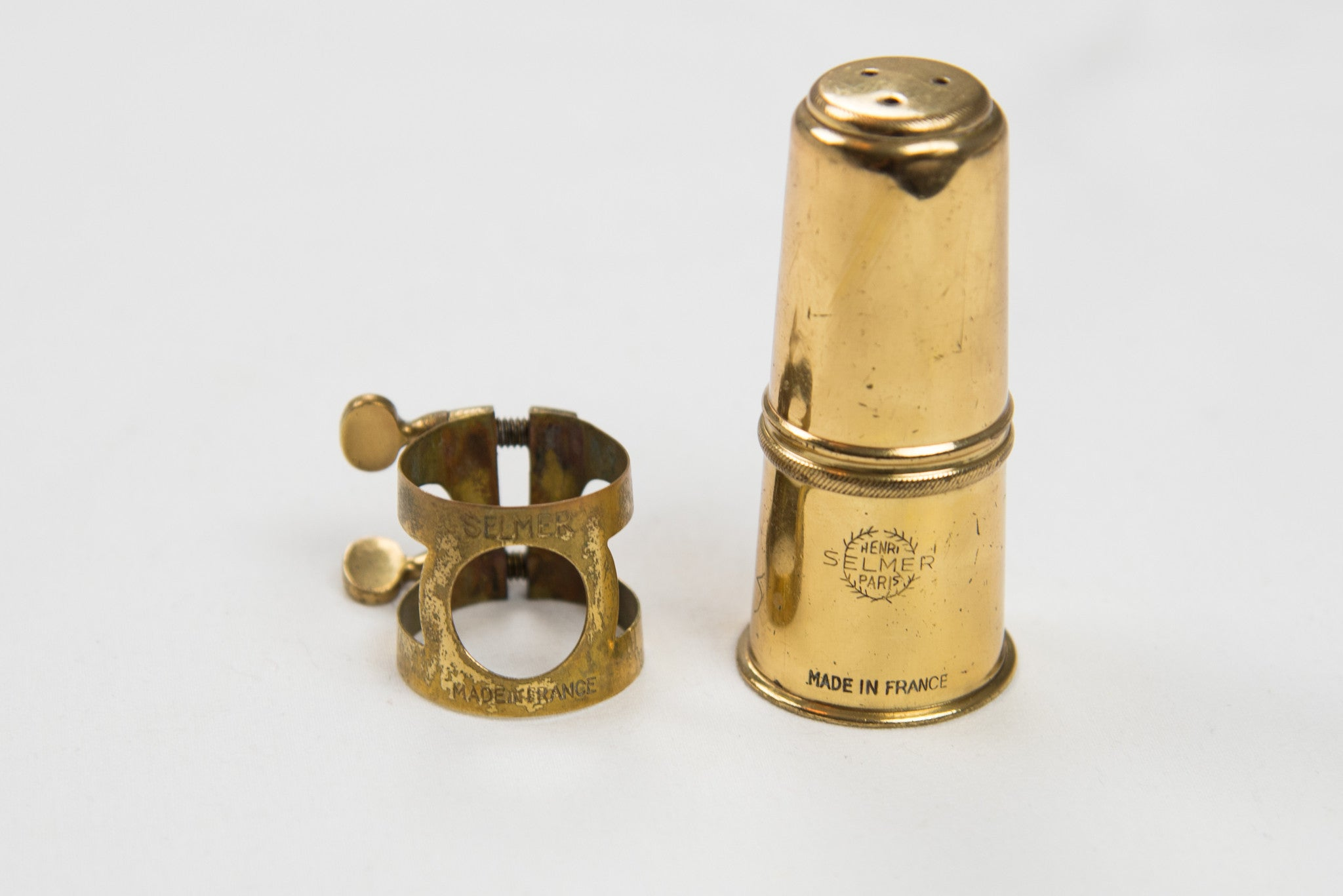Vintage 1960's Selmer Mark VI Alto Saxophone Ligature and Cap
