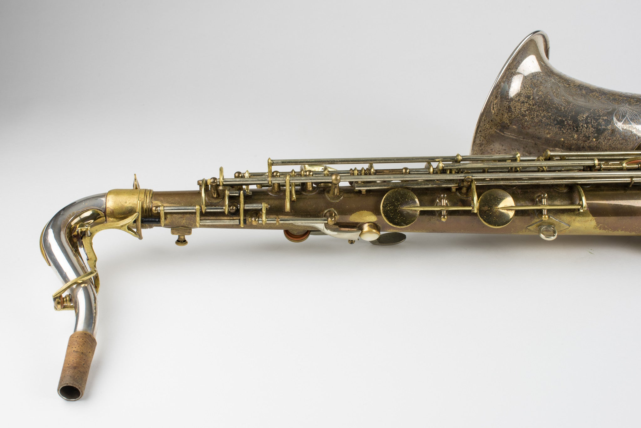 1956 King Super 20 Silversonic Tenor Saxophone Cleveland, Solid Silver Bell, Neck