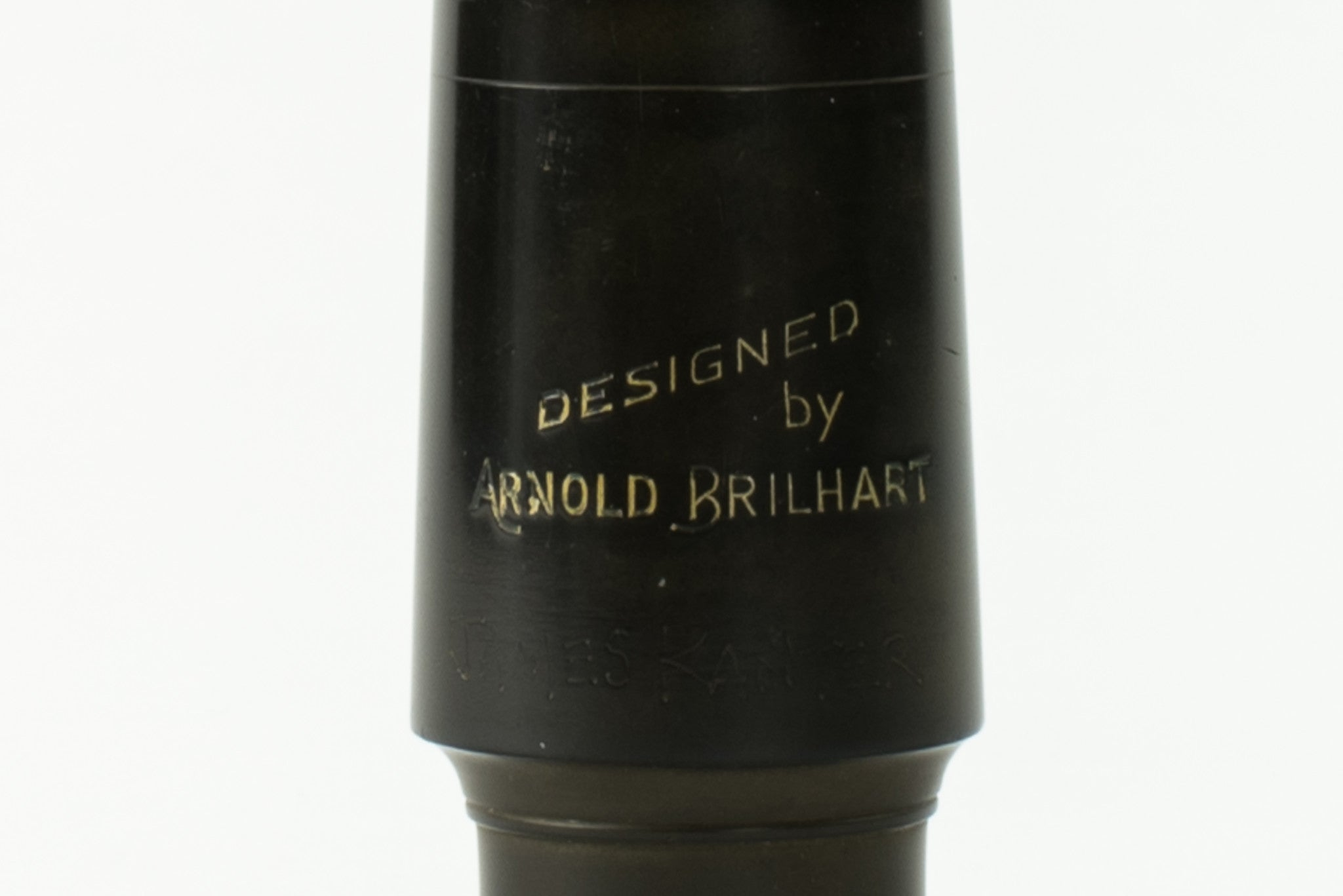 "Brilhart Hard Rubber Tenor Saxophone Mouthpiece, Great Neck, ""Designed By"" Model"