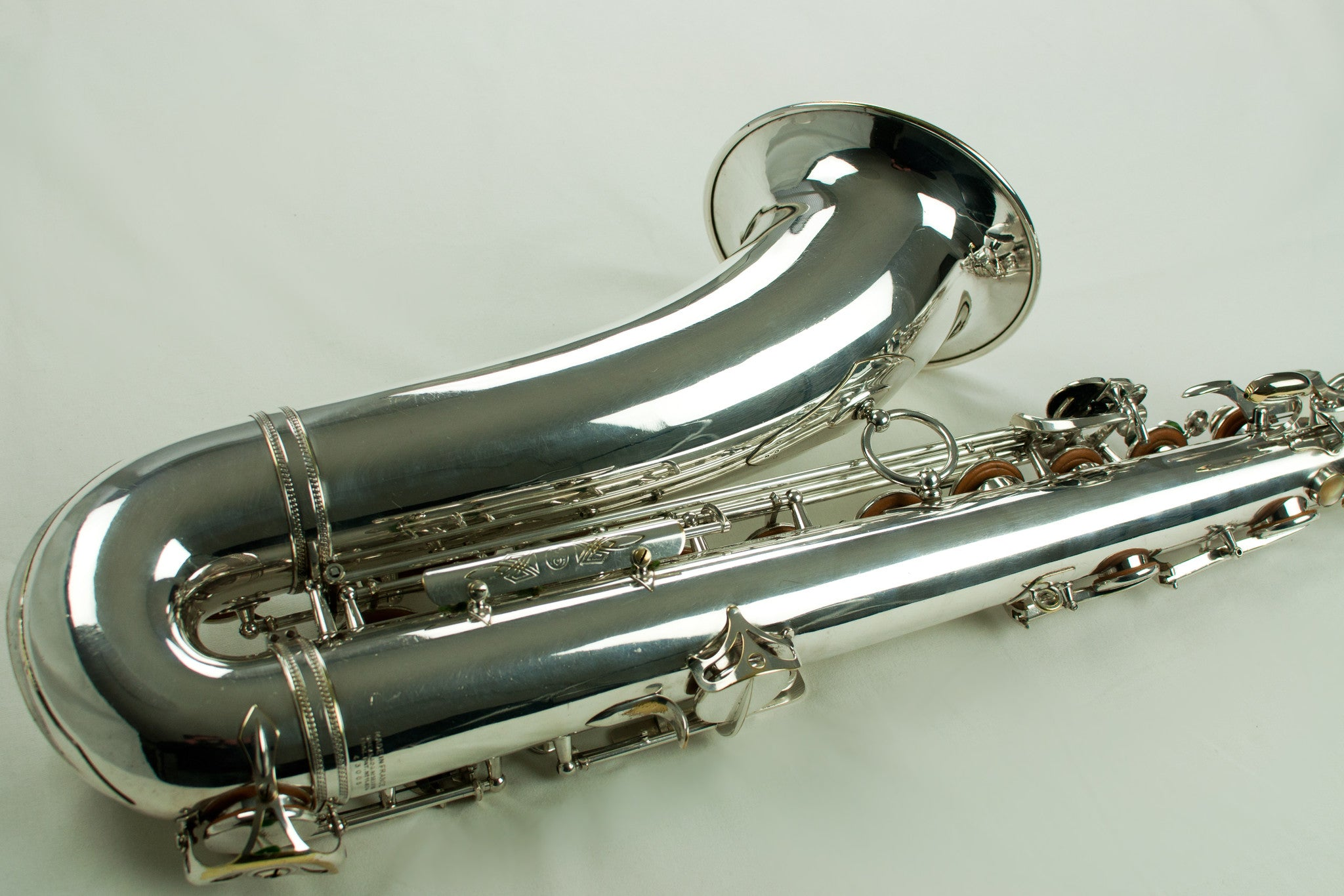 1950 Selmer Super Balanced Action Tenor Saxophone Silver Near Mint SBA 43,xxx