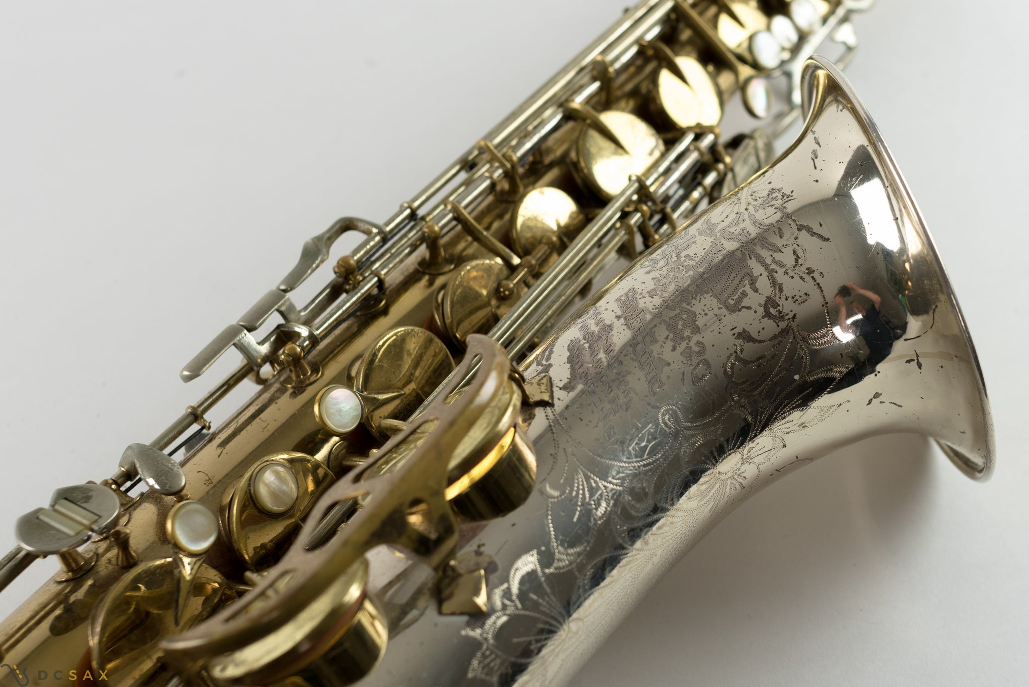 King Super 20 Tenor Saxophone, Silver Sonic