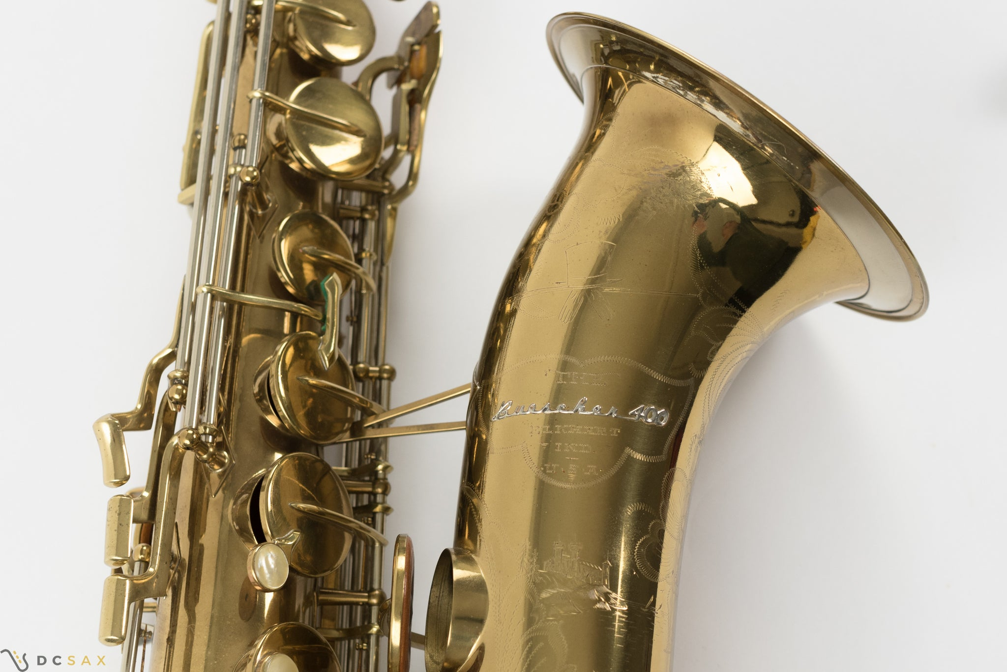 Buescher 400 Top Hat and Cane Tenor Saxophone, Near Mint, Original Lacquer