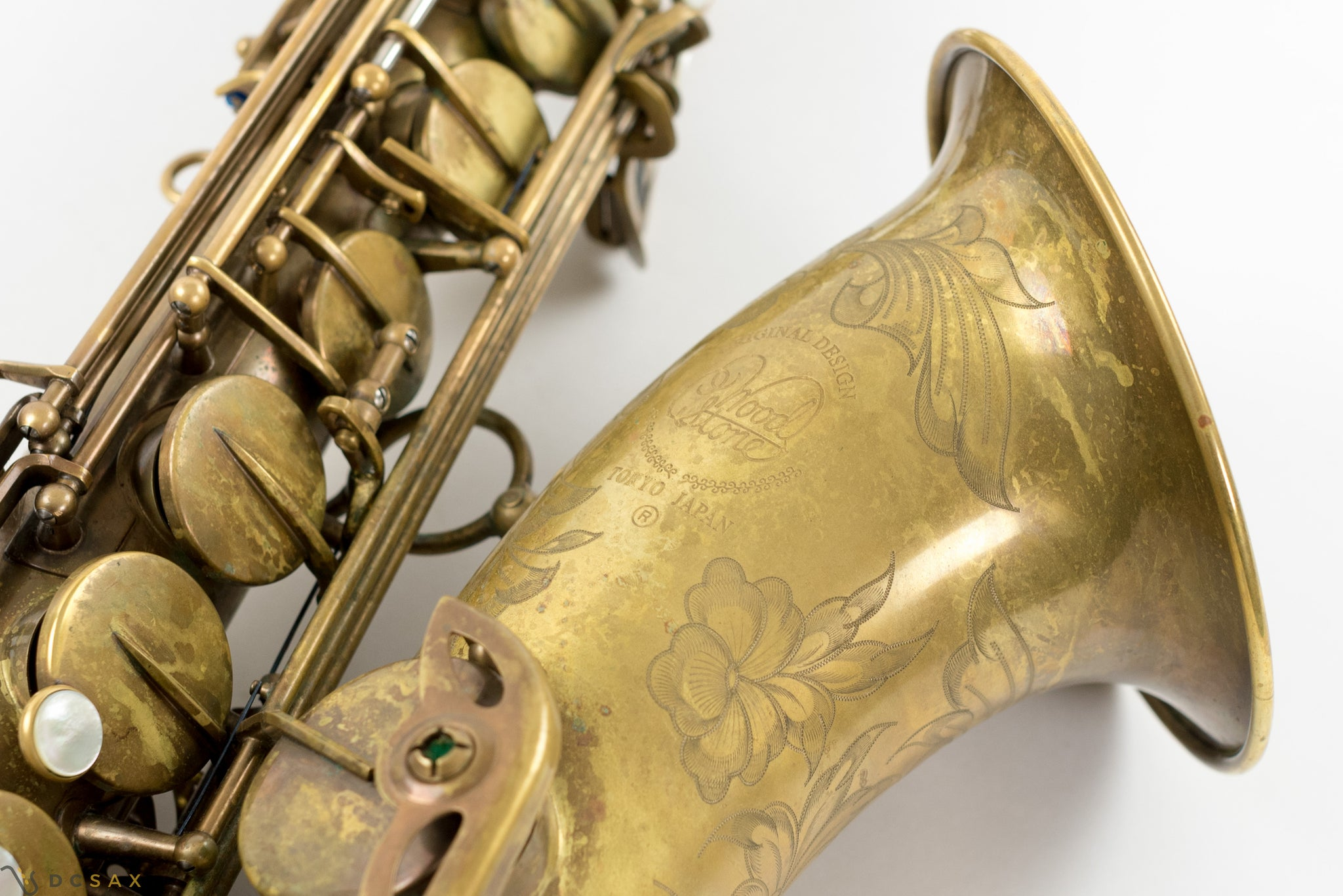 Ishimori Woodstone Tenor Saxophone, Near Mint Condition, Unlacquered Finish
