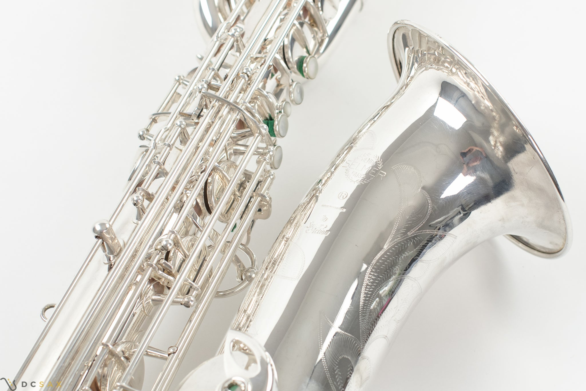 Selmer Super Action 80 Baritone Saxophone, Silver Plated
