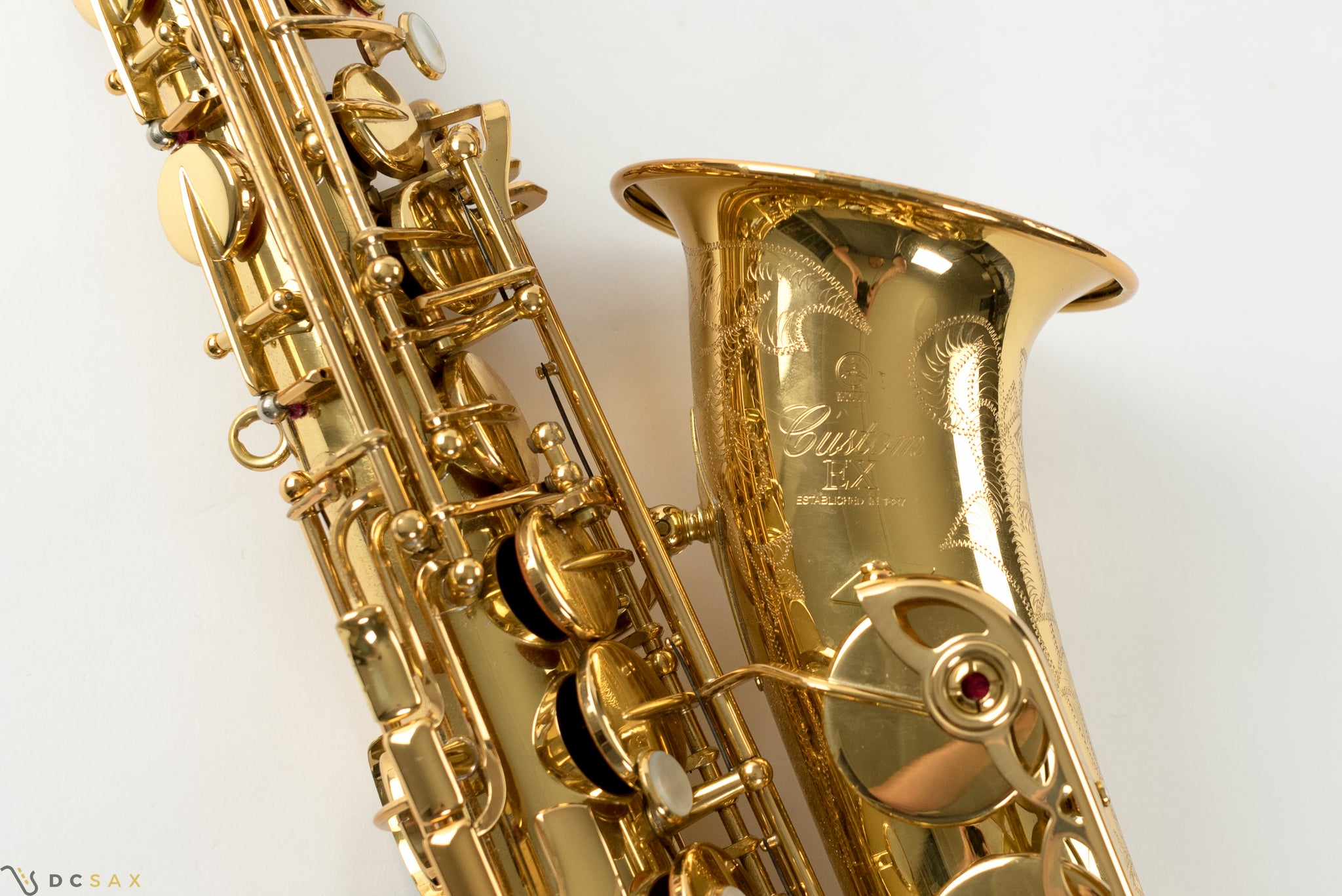 Yamaha Custom 875EX Alto Saxophone, V1 Neck, Just Serviced