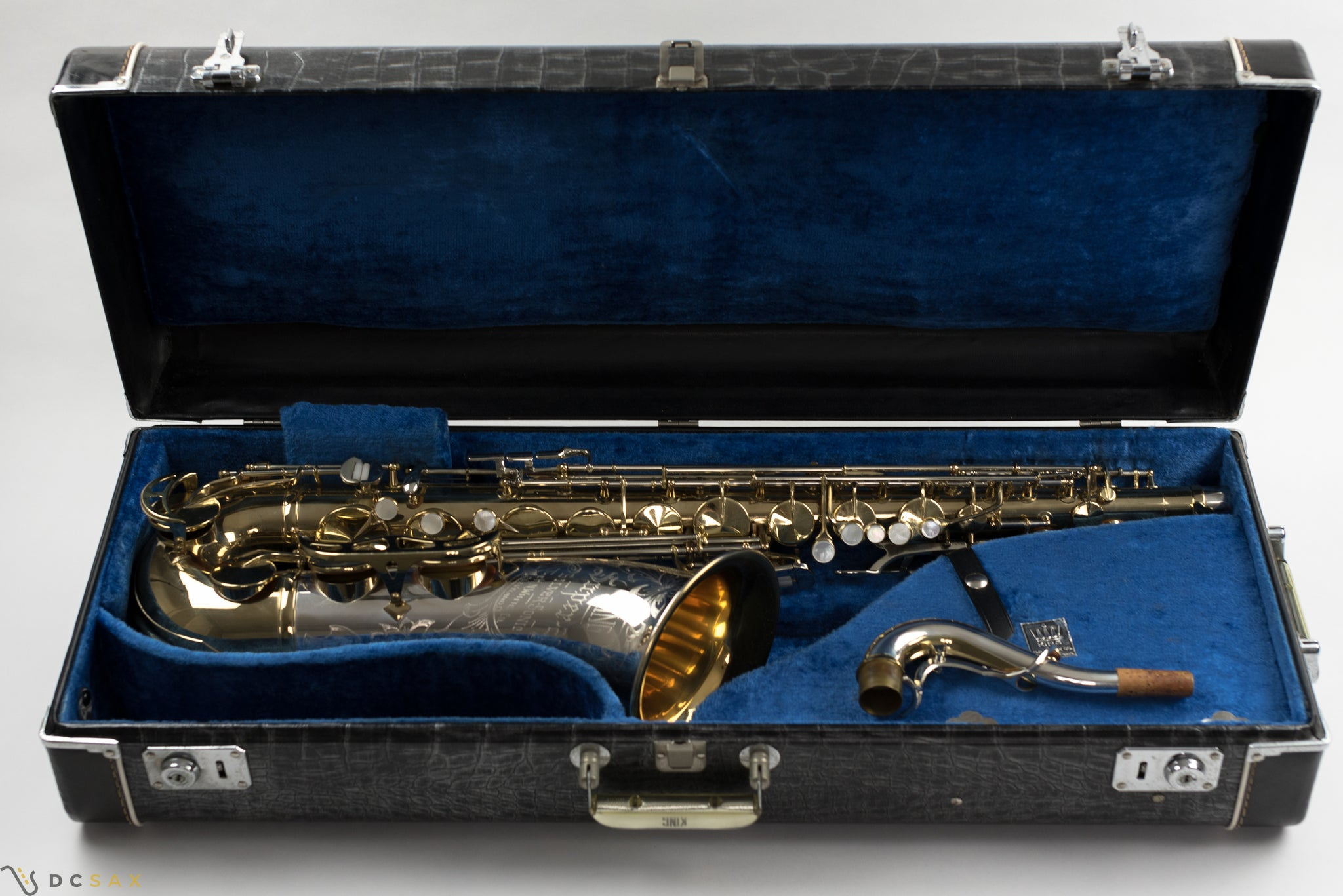 King Super 20 Tenor Saxophone, Silver Sonic, Cleveland, NEAR MINT, WOW