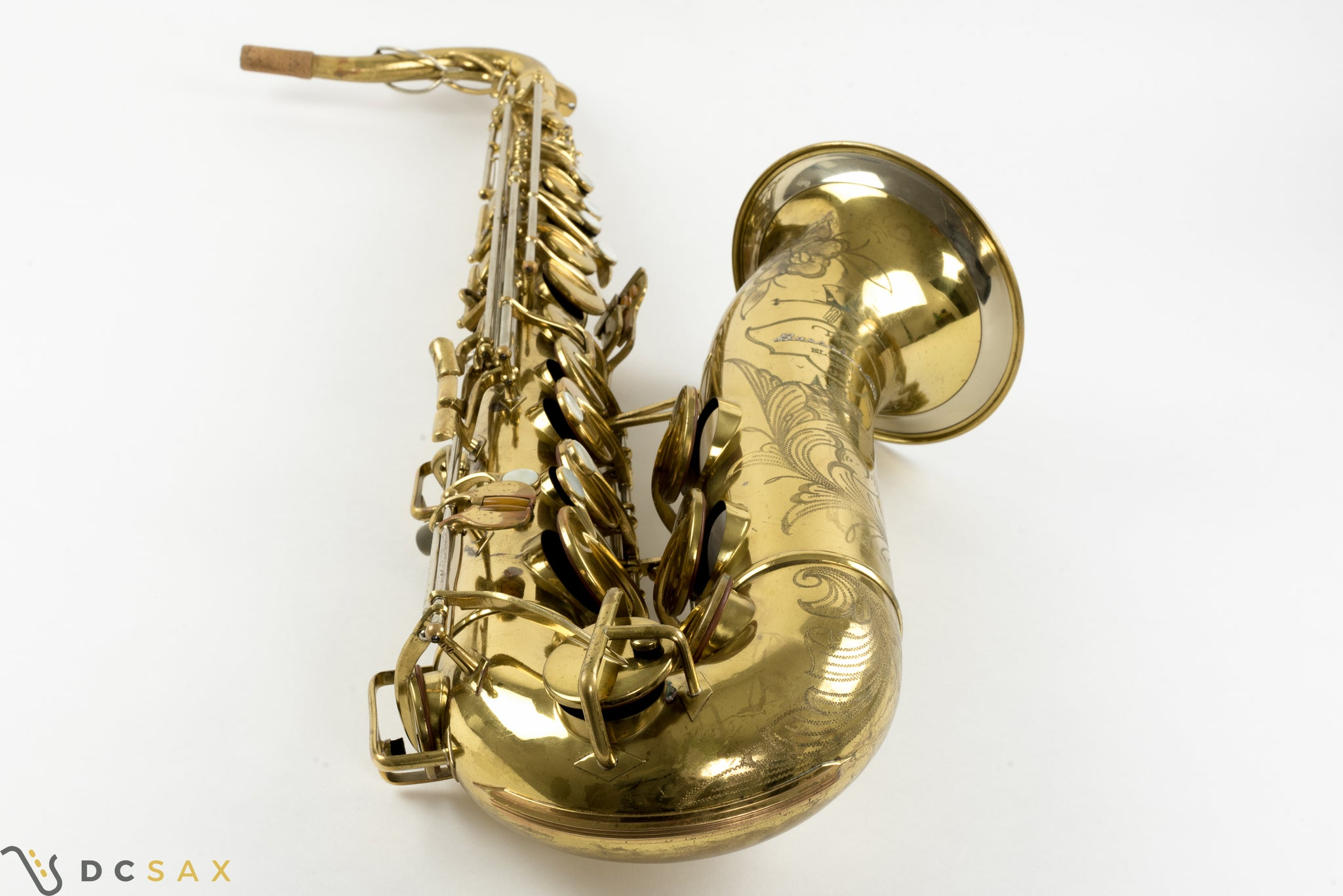 1948 Buescher 400 Top Hat and Cane Tenor Saxophone, 97% Original Lacquer