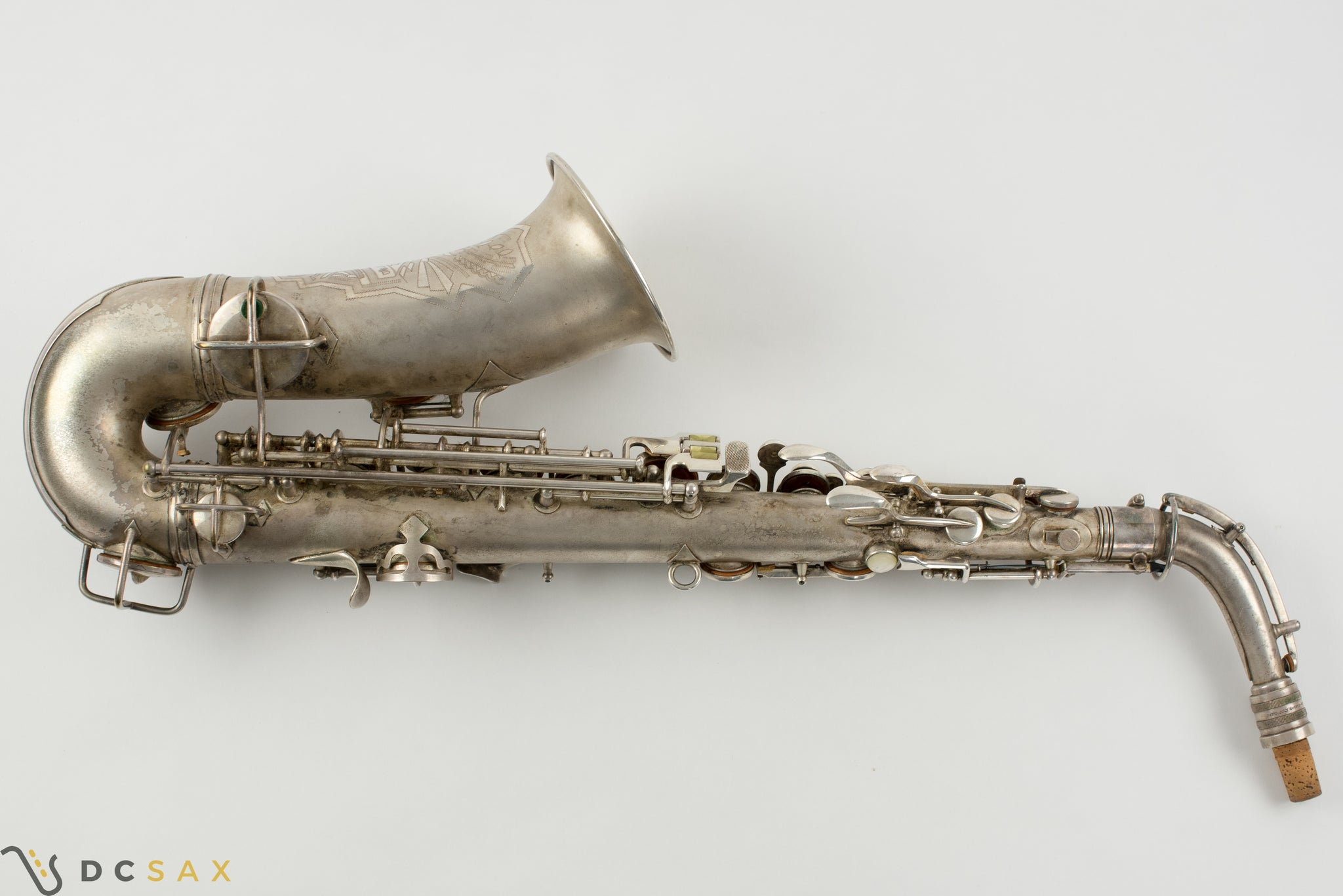 1931 244,xxx Conn 6M Transitional Alto Saxophone, Silver Plated, Gold Bell