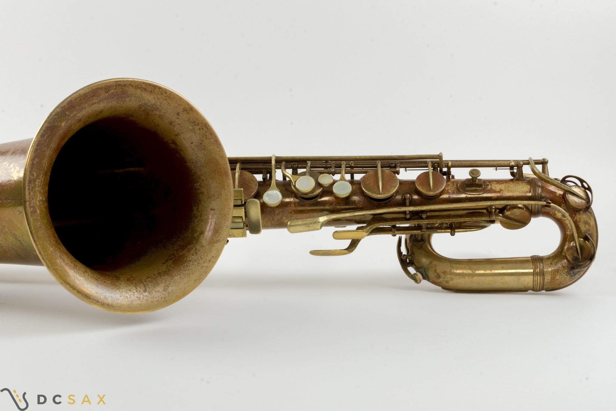 Conn 12M Transitional Baritone Saxophone, Owned by Bob Gioga, Kenton Member