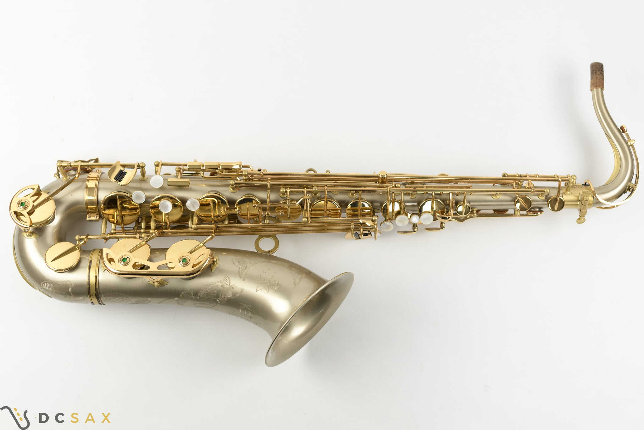 Keilwerth SX90R Tenor Saxophone, Rare Brushed Nickel-Silver Finish