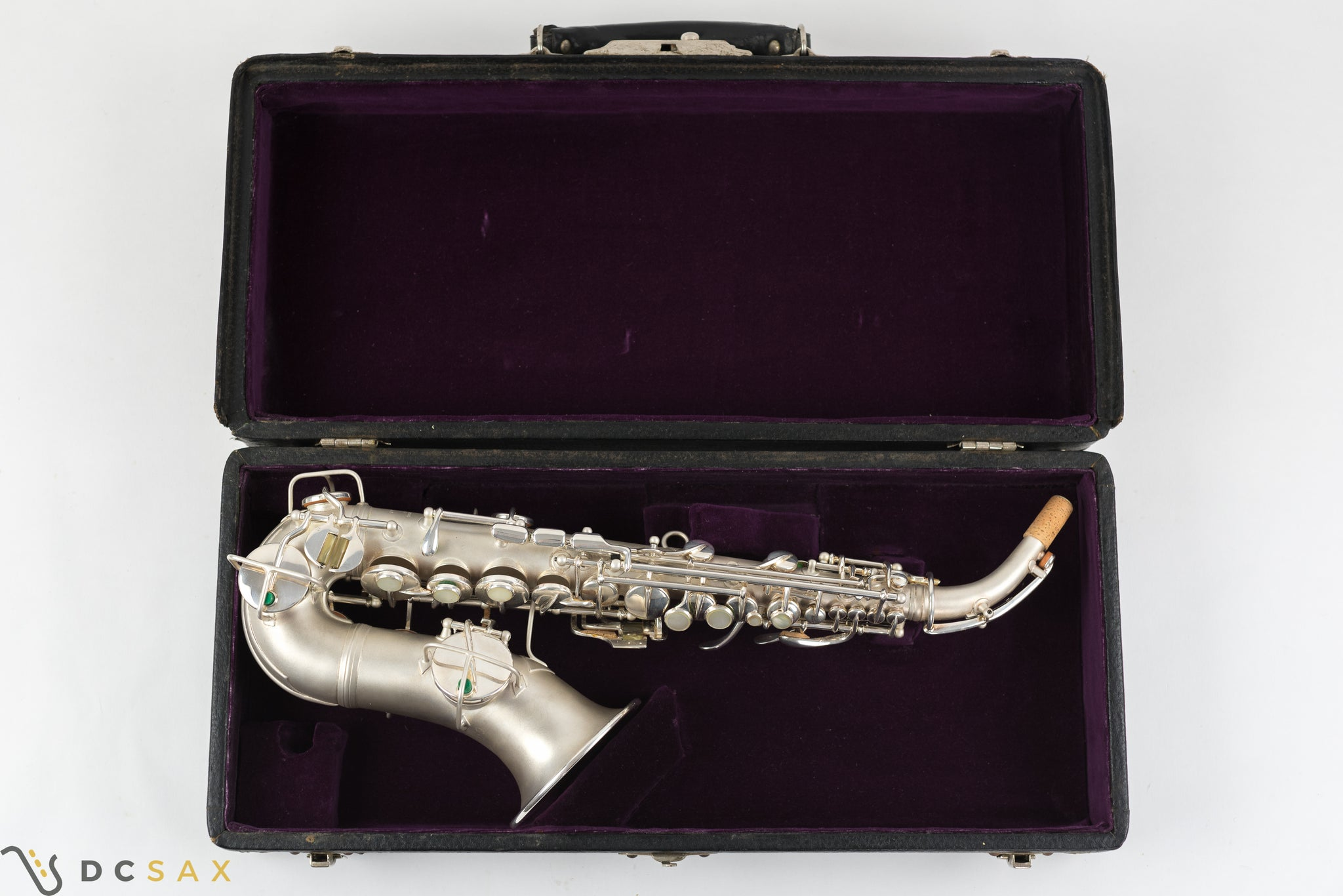 121,xxx Conn New Wonder Curved Soprano Saxophone, Silver Plated, Video