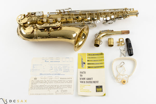 King Super 20 Alto Saxophone, Near Mint, WOW!