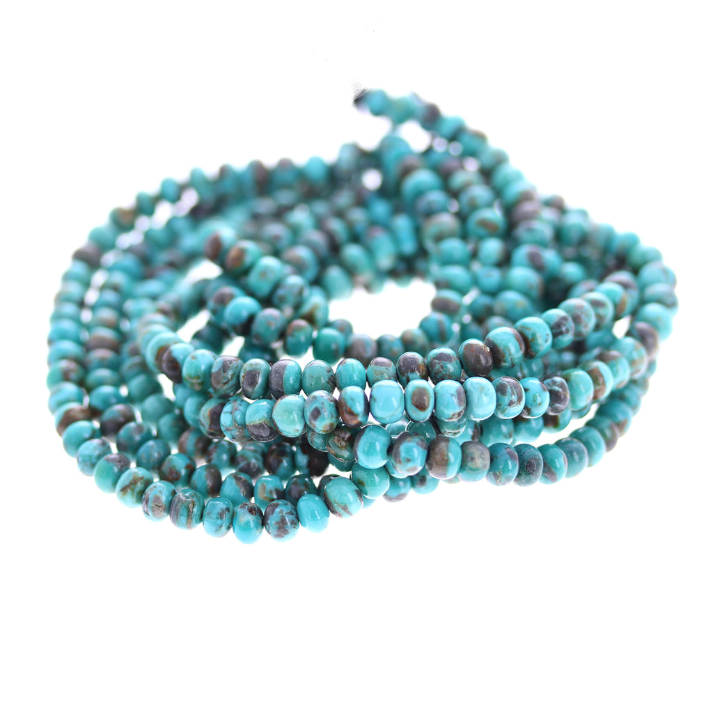 CARICO LAKE TURQUOISE Beads 5mm Rondelle 18""