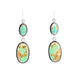 VARISCITE and Fox Turquoise Earrings Sterling Southwest Style