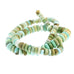 CHINESE TURQUOISE BEADS GRADUATED RONDELLES LIGHT GREENS