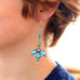 SLEEPING BEAUTY TURQUOISE Earrings Regal Style Sterling