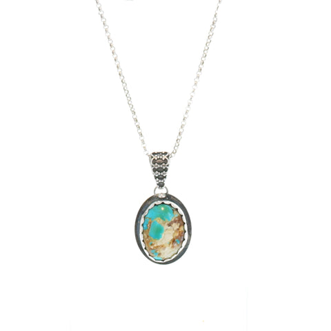 Turquoise Mountain TURQUOISE PENDANT Sterling Oval