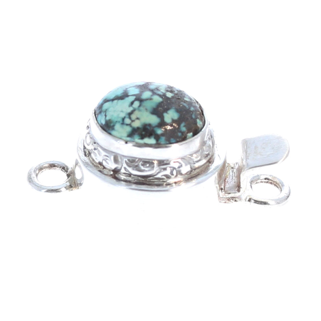 McGinnis turquoise Sterling Silver Clasp Oval