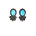 SLEEPING BEAUTY TURQUOISE Earrings Posts Scroll Design
